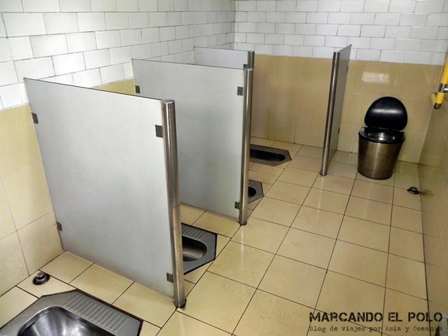 Curiosidades de China baño publico sin puertas