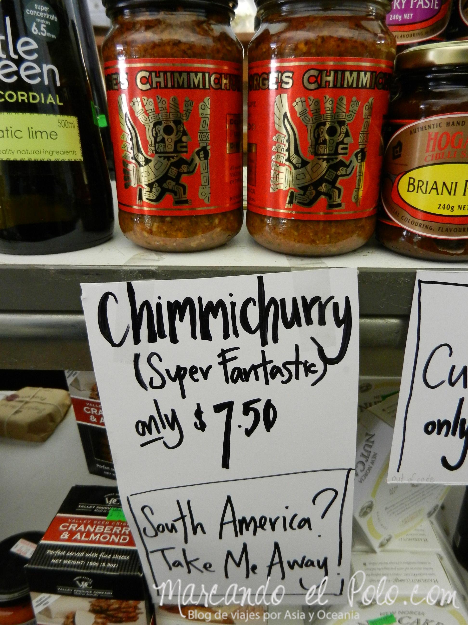 Viajar a Australia: chimichurri