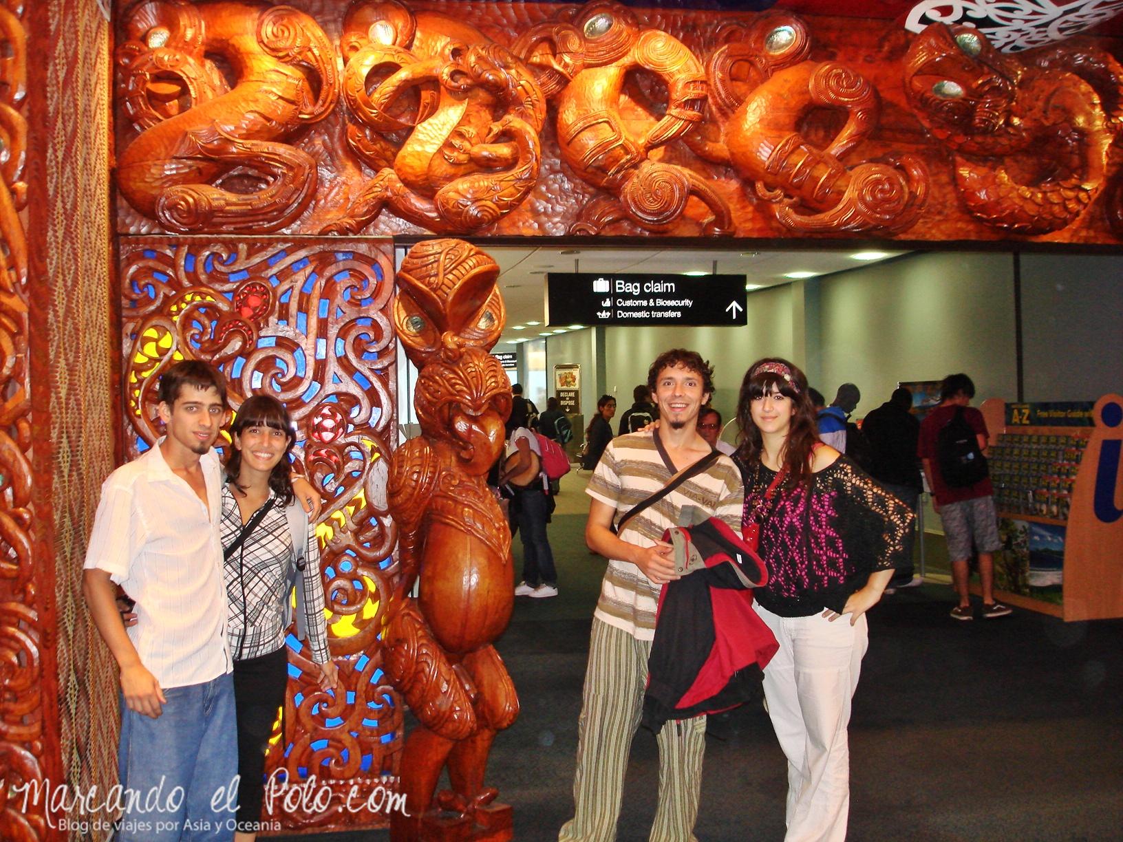 Working Holiday Nueva Zelanda: entrada aeropuerto Auckland