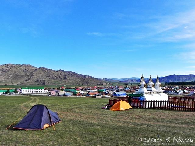 Viajar a Mongolia - acampando en Mongolia