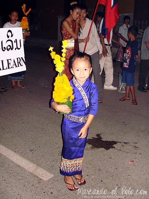 Festival Loy Kathoung - Luang Prabang, Laos 2