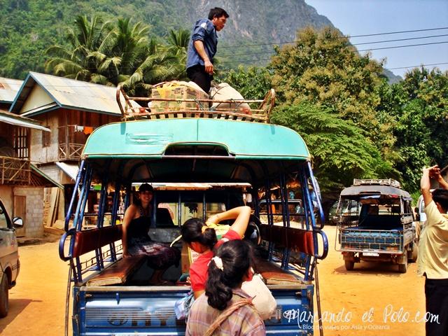 Llegando a Nong Khiaw