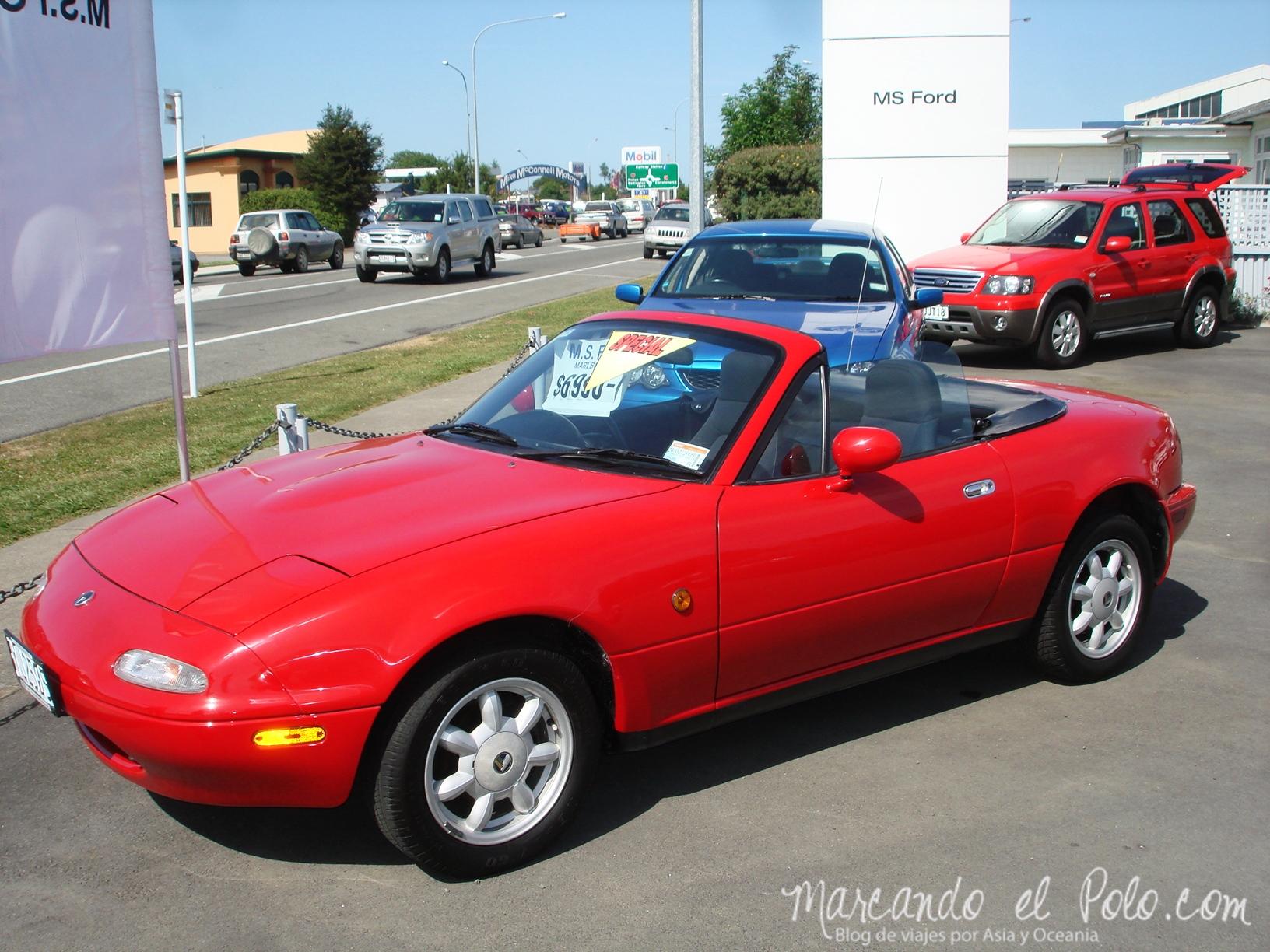 Comprar un auto en Nueva Zelanda: descapotable