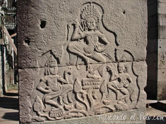 Templos de Angkor: bajorrelieve