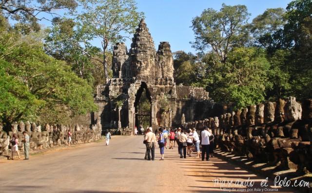 Templos de Angkor: Puerta Sur a Angkor Thom