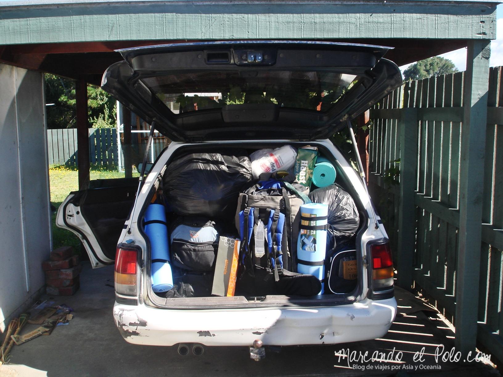 Comprar un auto en Nueva Zelanda: Baúl lleno