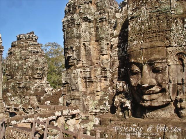 Templos de Angkor: Caras de Bayon