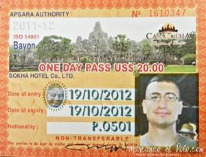 Ticket de entrada de nuestro amigo Frei