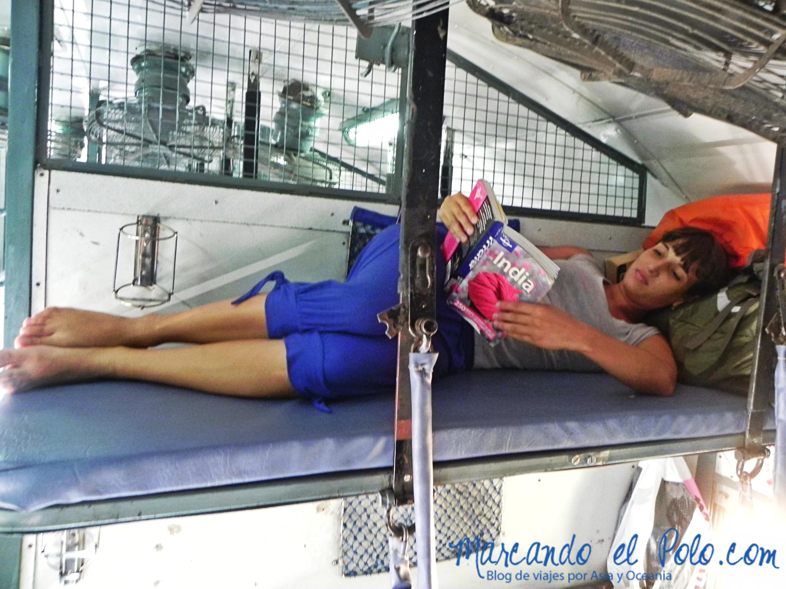 Presupuesto para viajar a India: tren sleeper