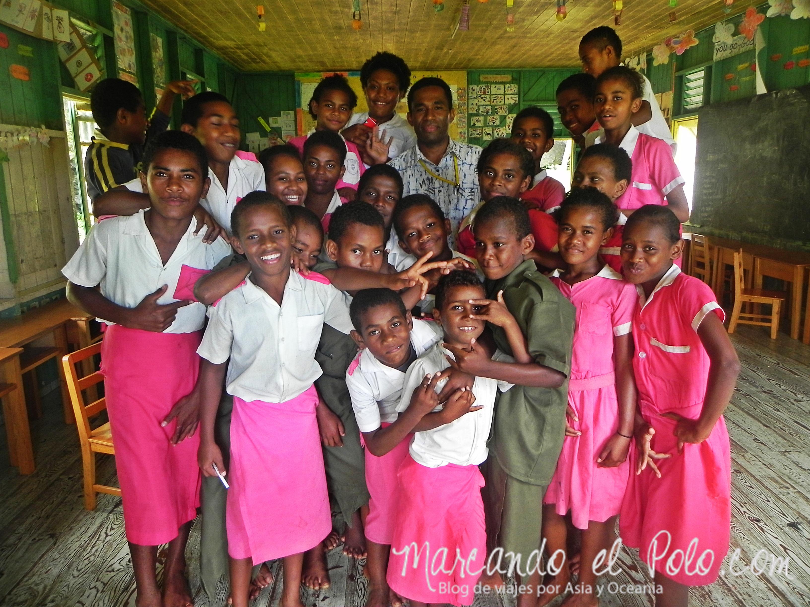 Escuela en Ovalau, Fiyi