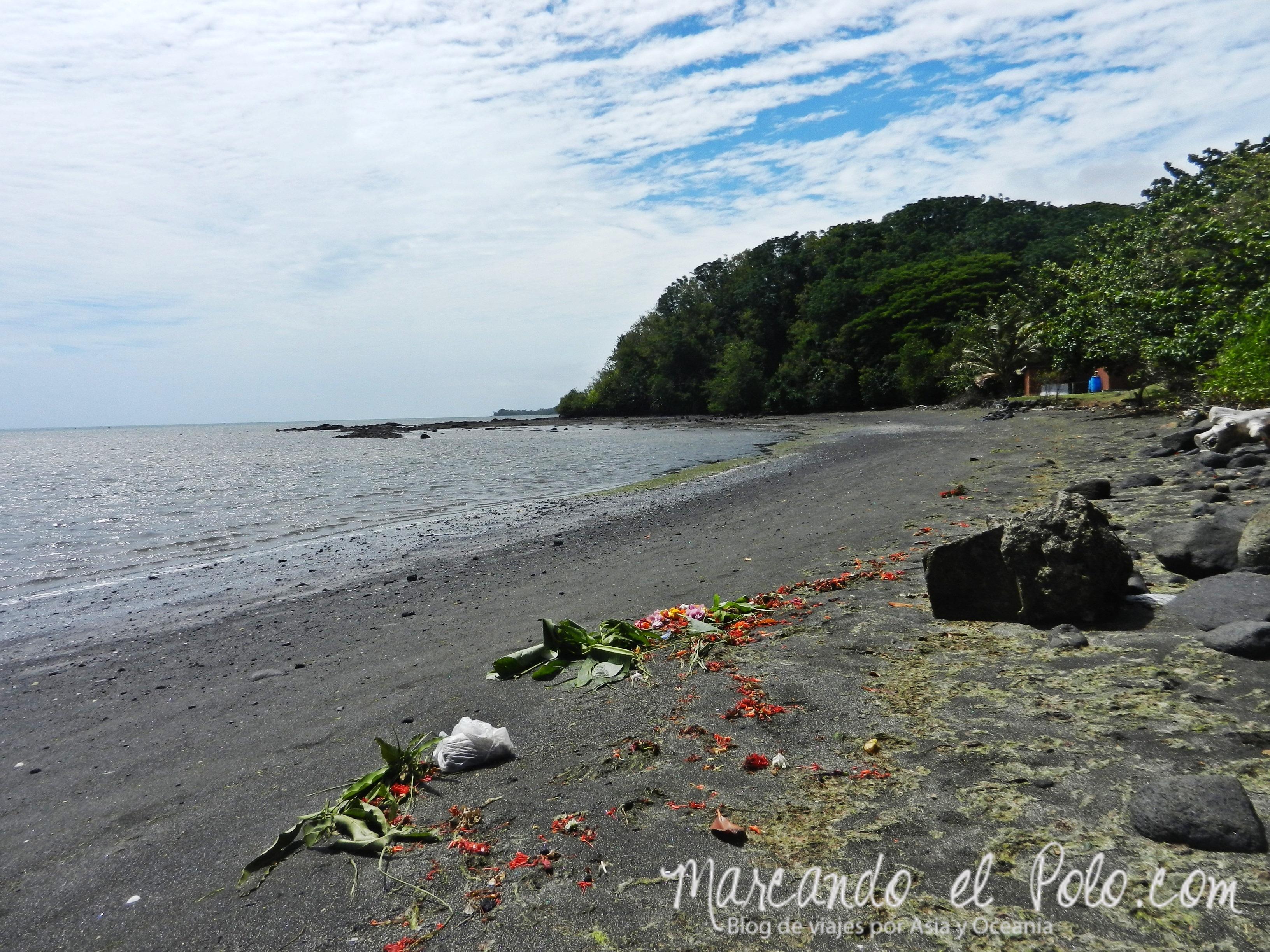 Playa no paradisíaca de Fiyi