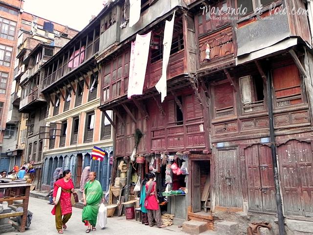 Viajar a Katmandu - calles de Katmandu