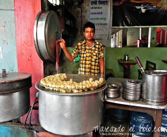 Viajar a Katmandu - Comia nepali momos