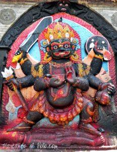 Viajar a Katmandu - Bhairava en Plaza Durbar
