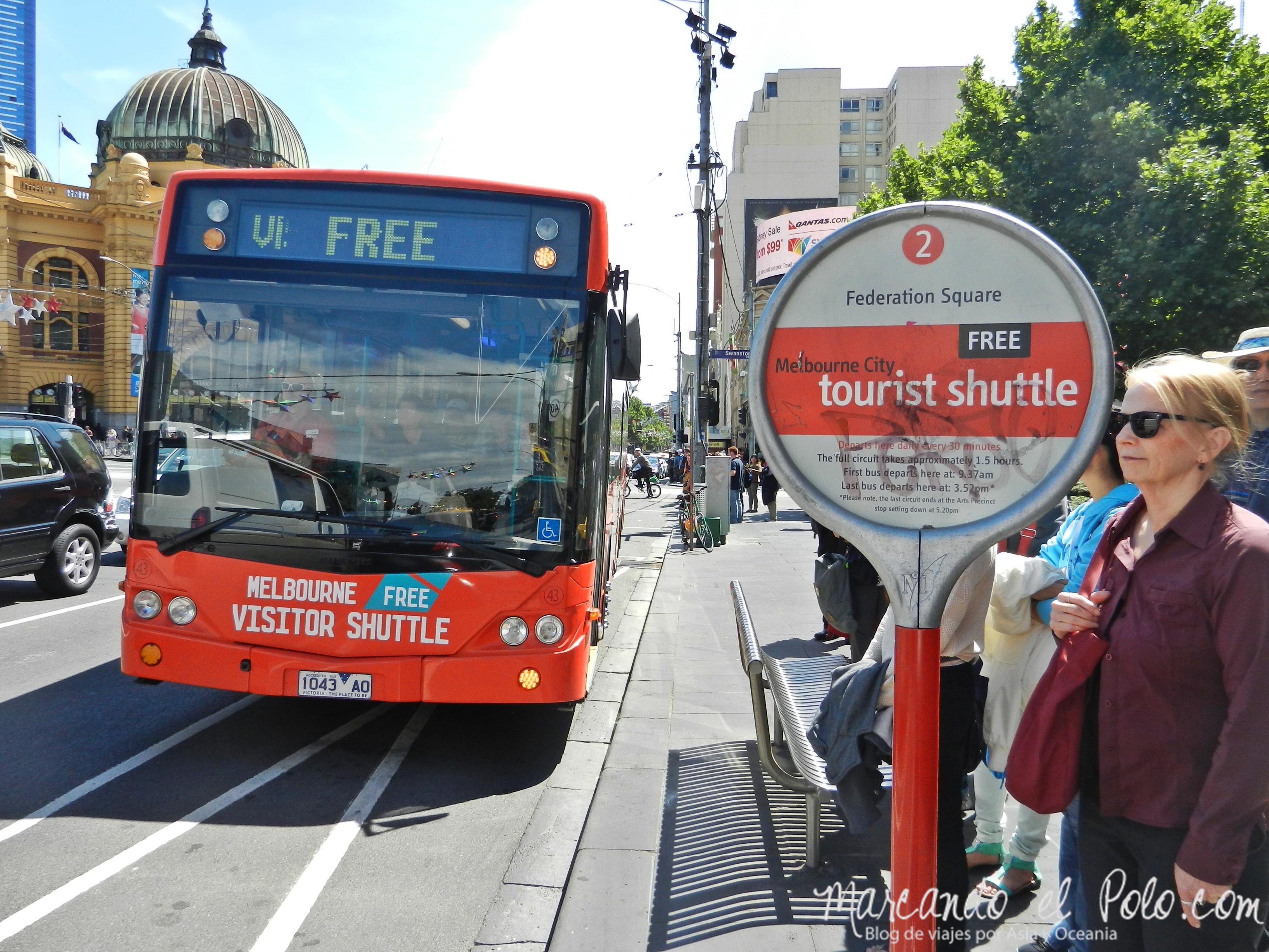 Viajar barato por Melbourne: bus turístico gratuito