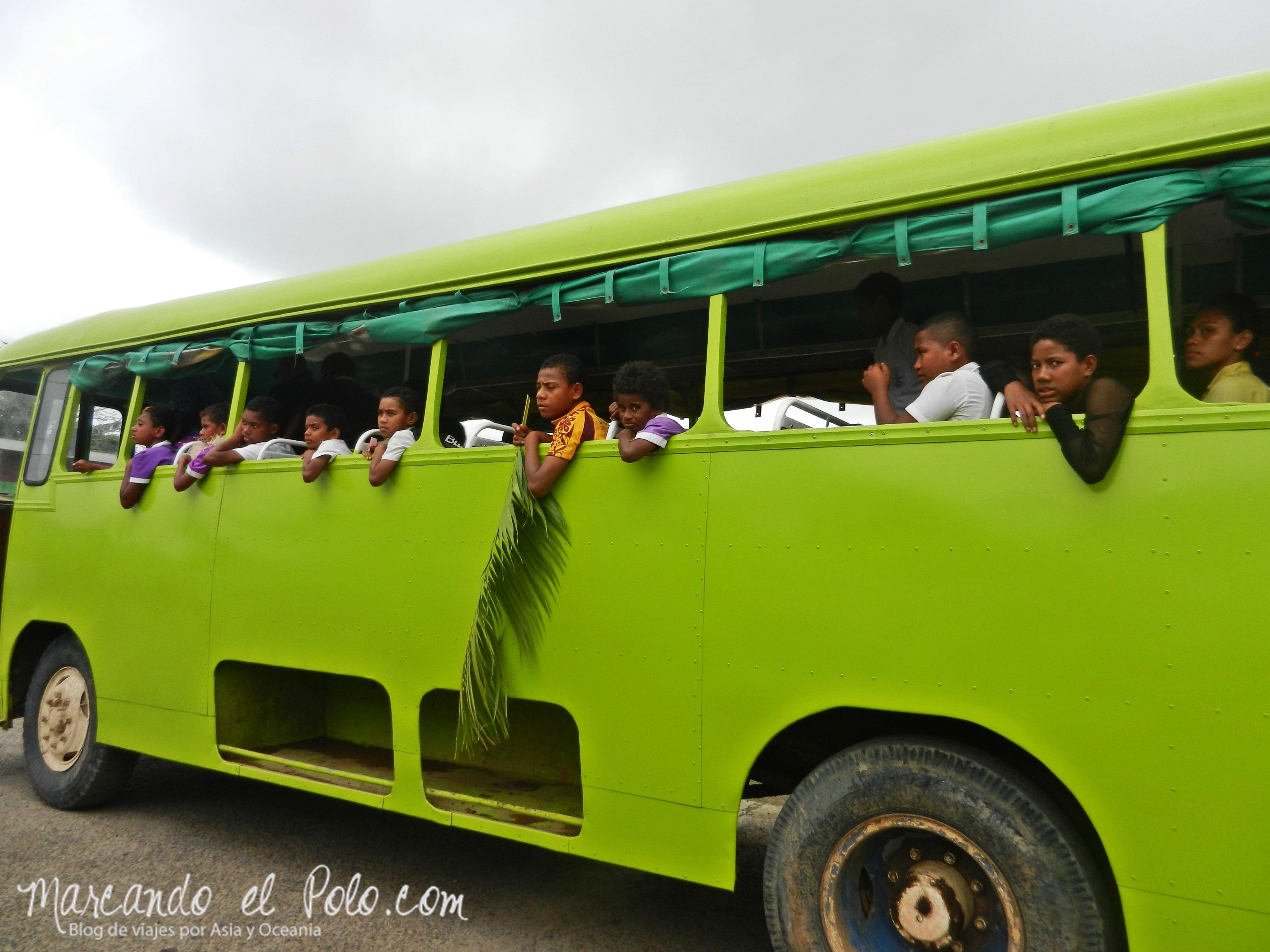 Presupuesto para viajar a Fiyi: Bus local