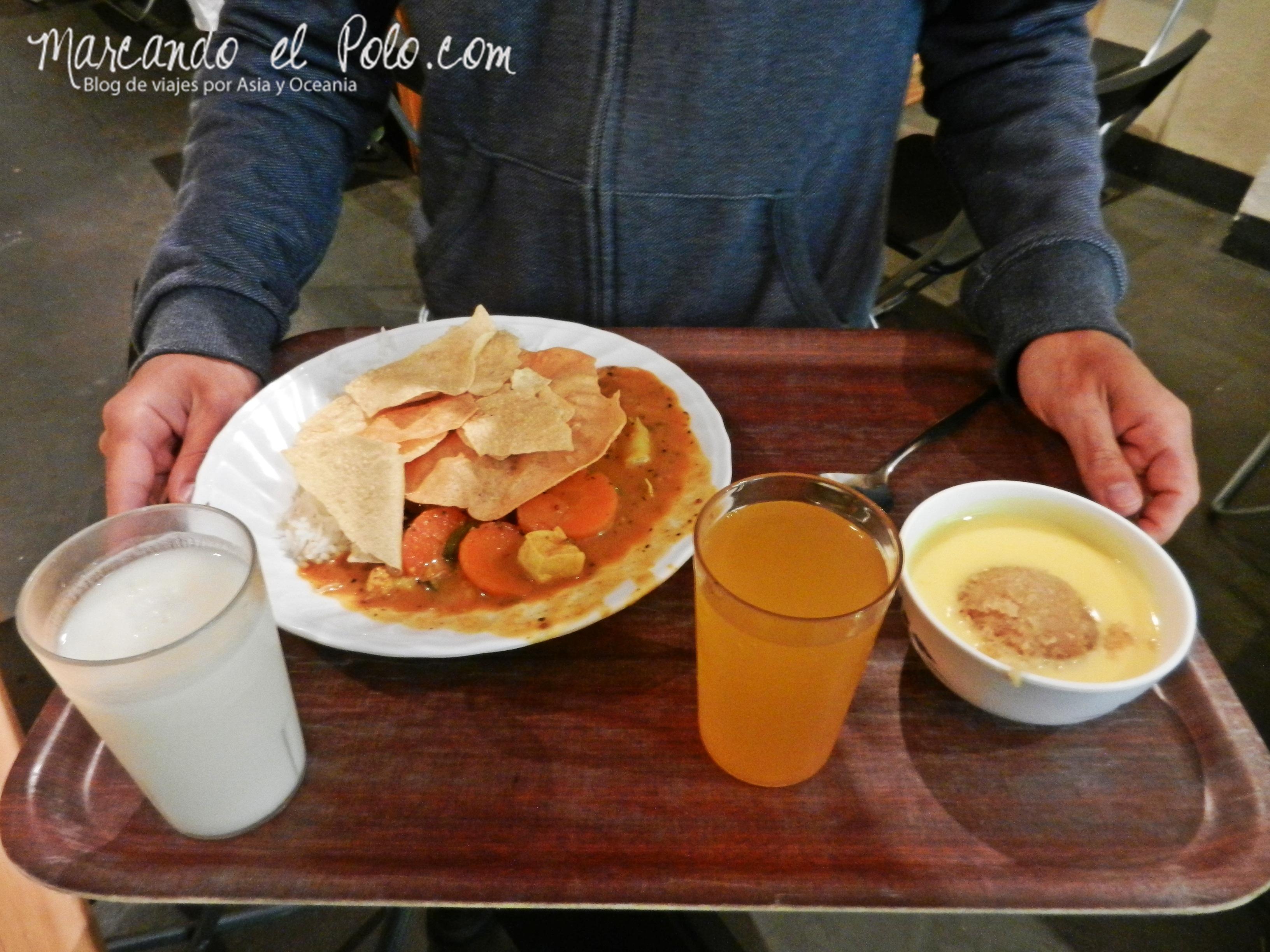 Viajar barato por Melbourne: la comida de Crossways es riquísima.