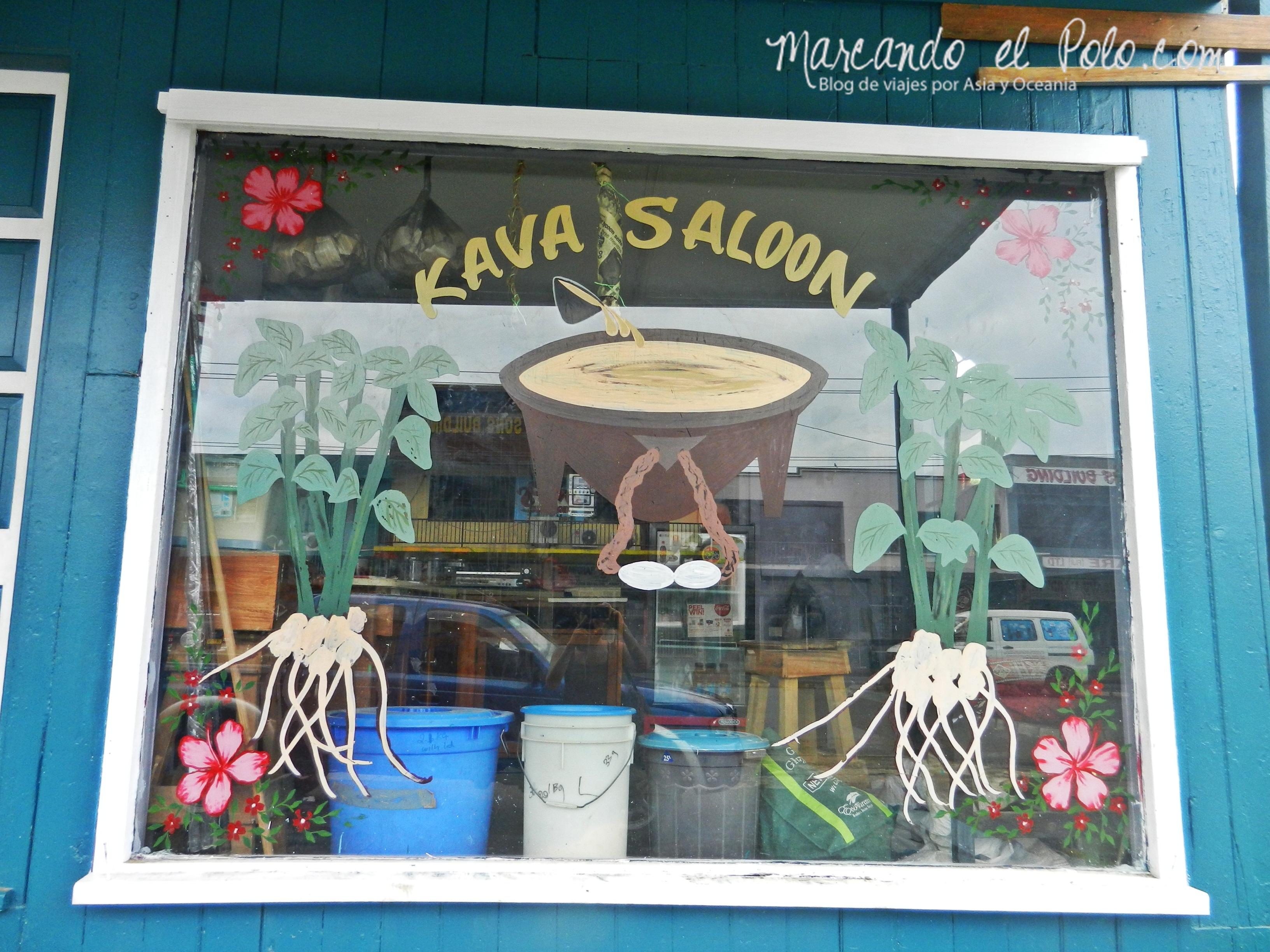 """Kava en Fiyi: """"kava saloon""""."""