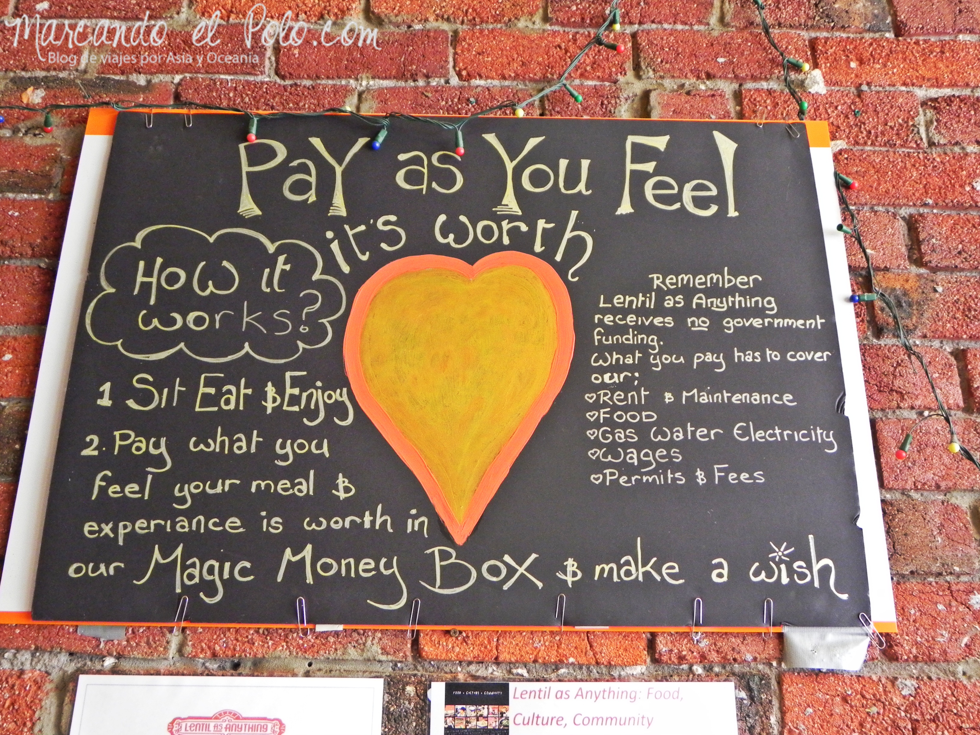 Viajar barato por Melbourne: restaurante Lentils
