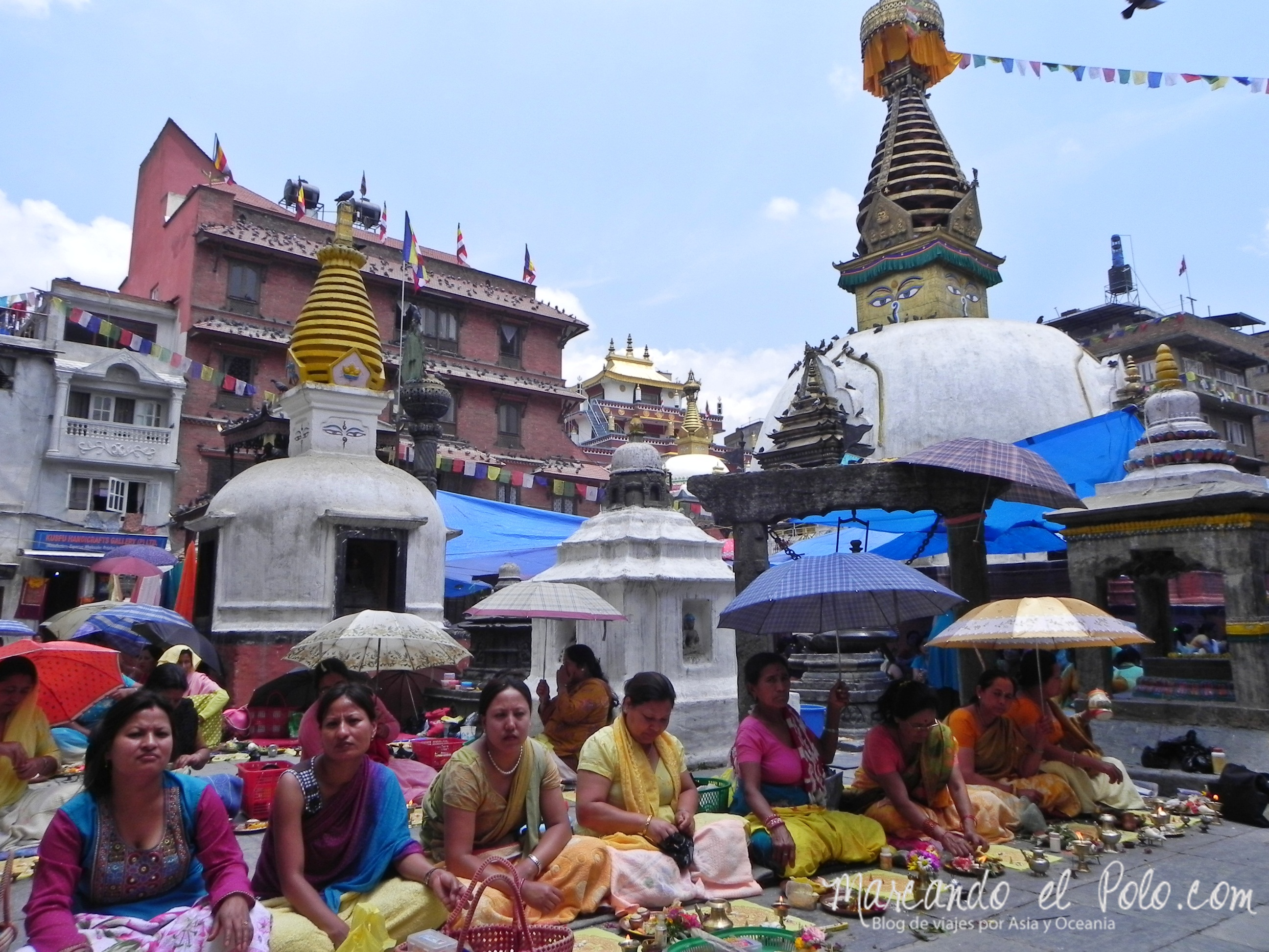 Ofrendas en Katmandú.