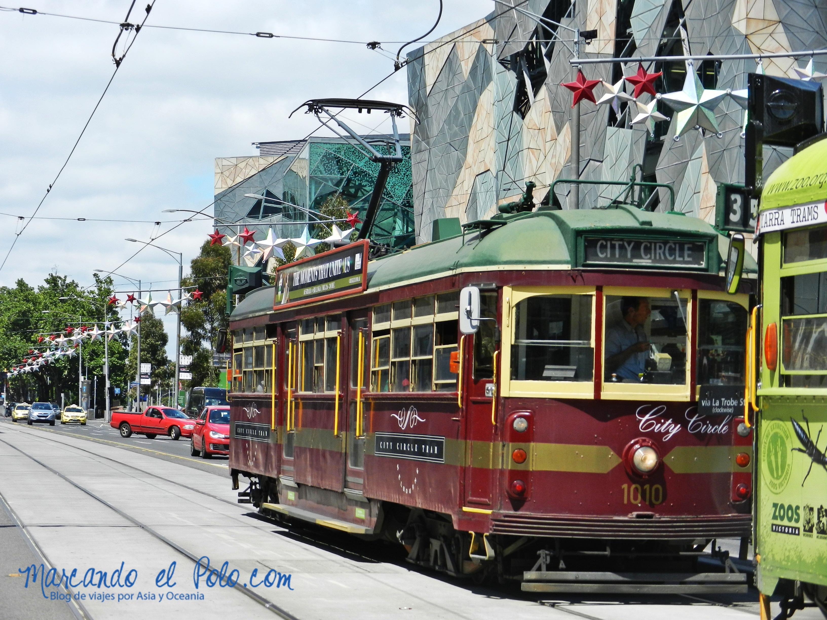 Viajar barato por Melbourne: City circle tram