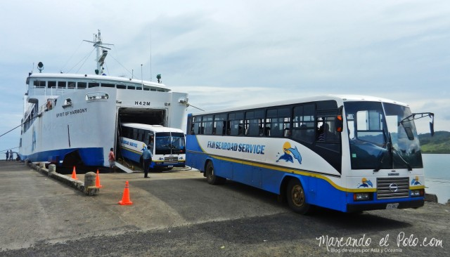 Presupuesto para viajar a Fiyi: Servicio interisleño de bus-ferry-bus