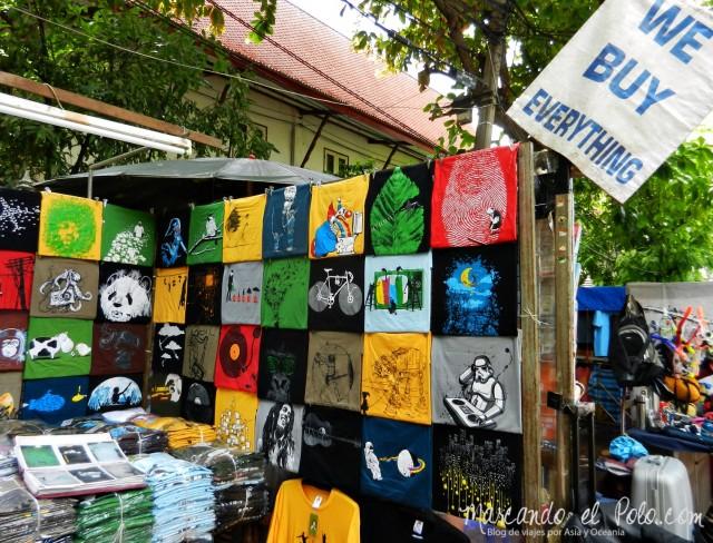 Primer viaje a Bangkok: Puesto de ropa