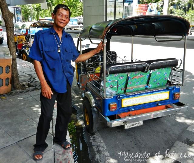 Primer viaje a Bangkok: tuk tuk