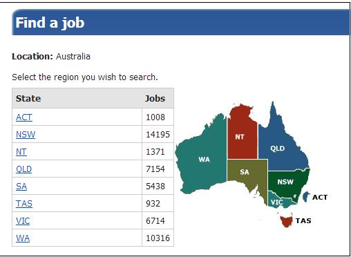 Donde conseguir trabajo en Australia