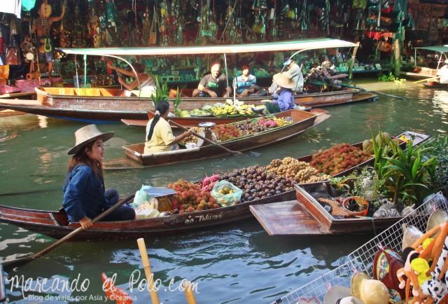 Primer viaje a Bangkok: Mercado flotante Damnoen Saduak