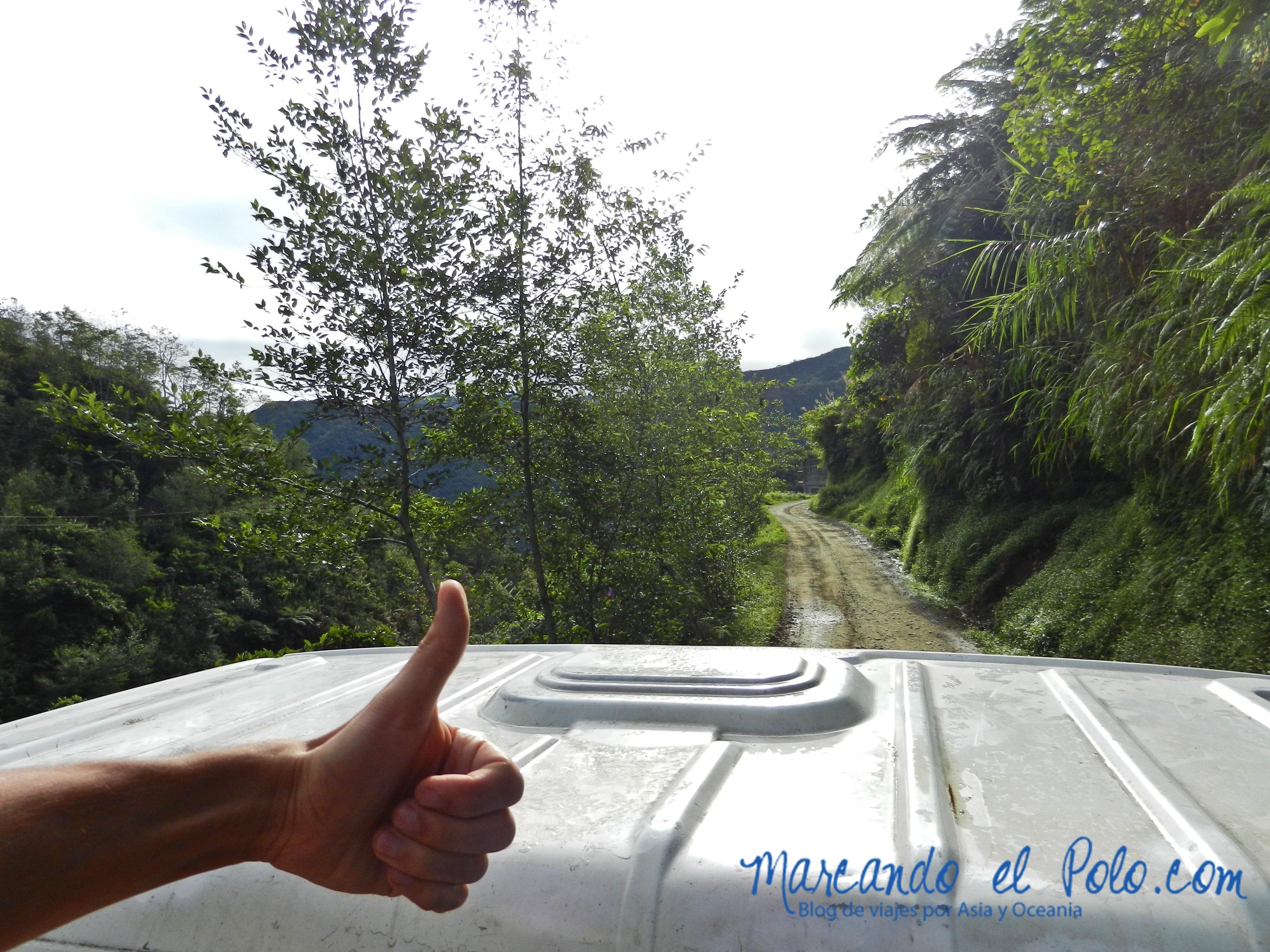 Terrazas de arroz en Filipinas: autostop para llegar