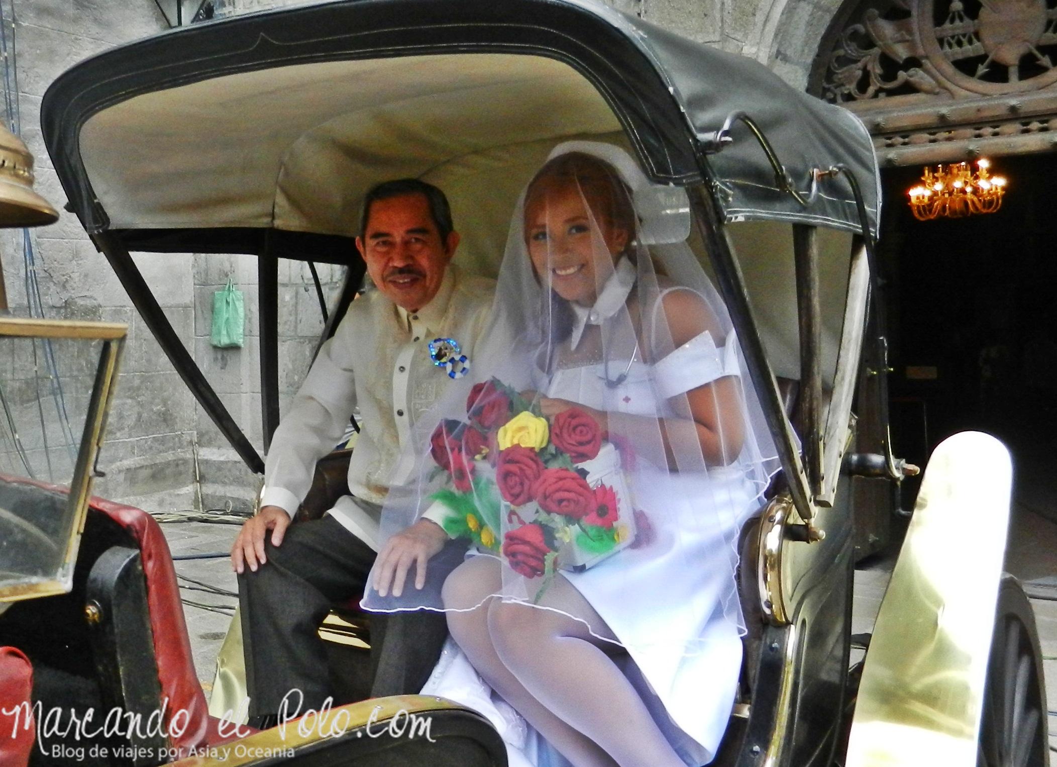 Casamiento en Iglesia San Agustín, Intramuros, Manila, Filipinas.