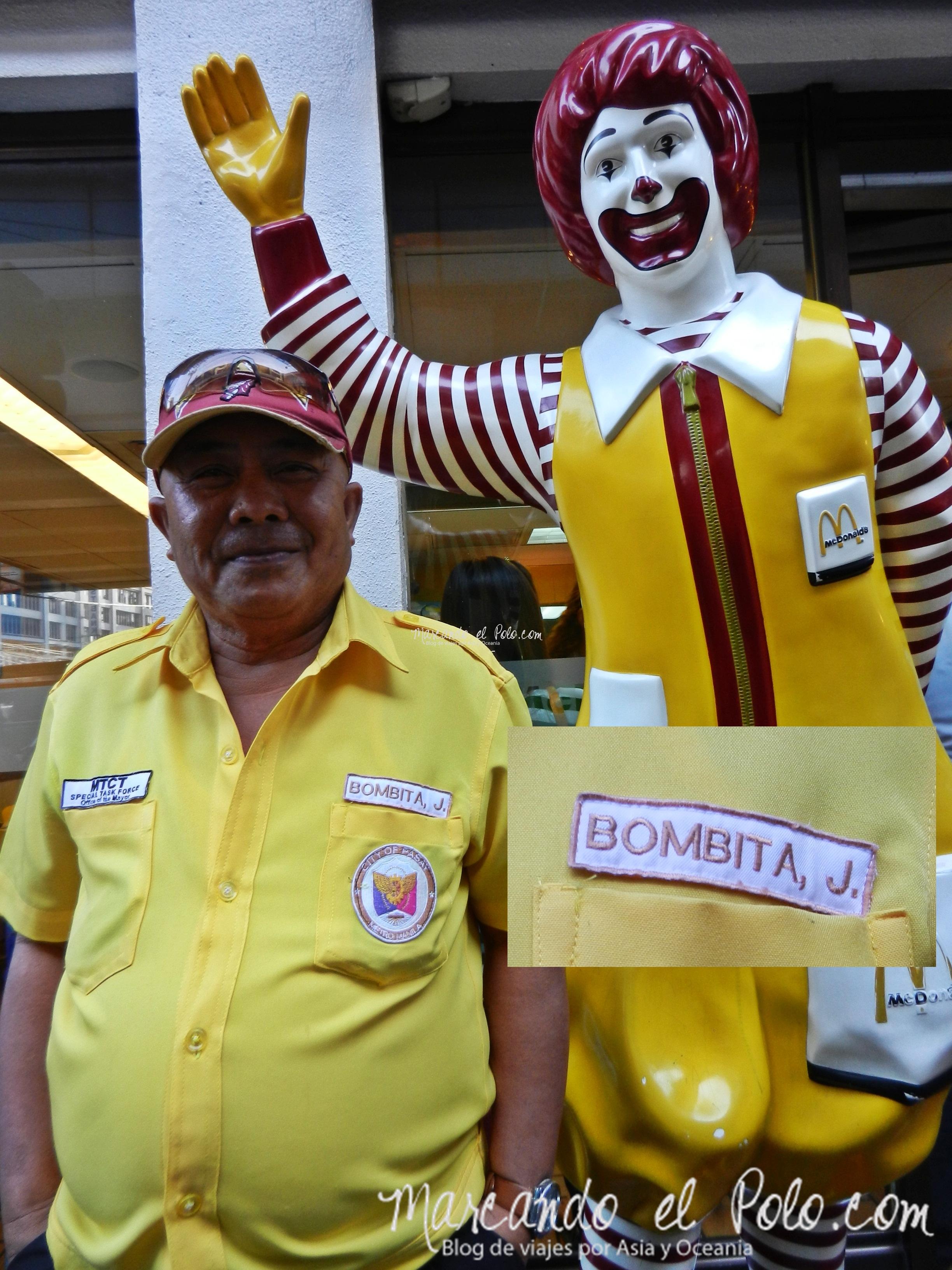 Nuestro amigo Bombita. Manila, Filipinas