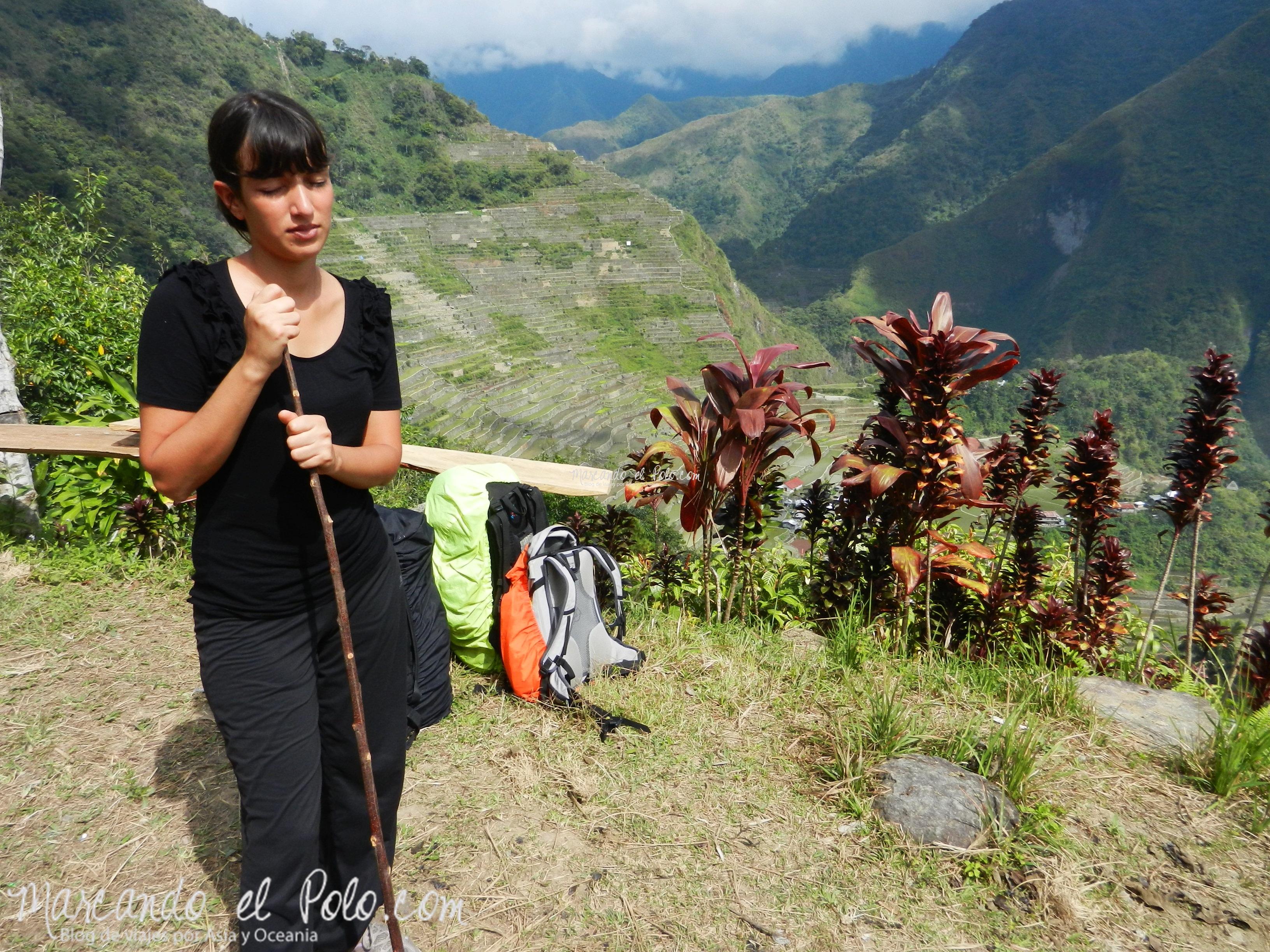 Terrazas de arroz filipinas: Saliendo de Batad a ciegas.