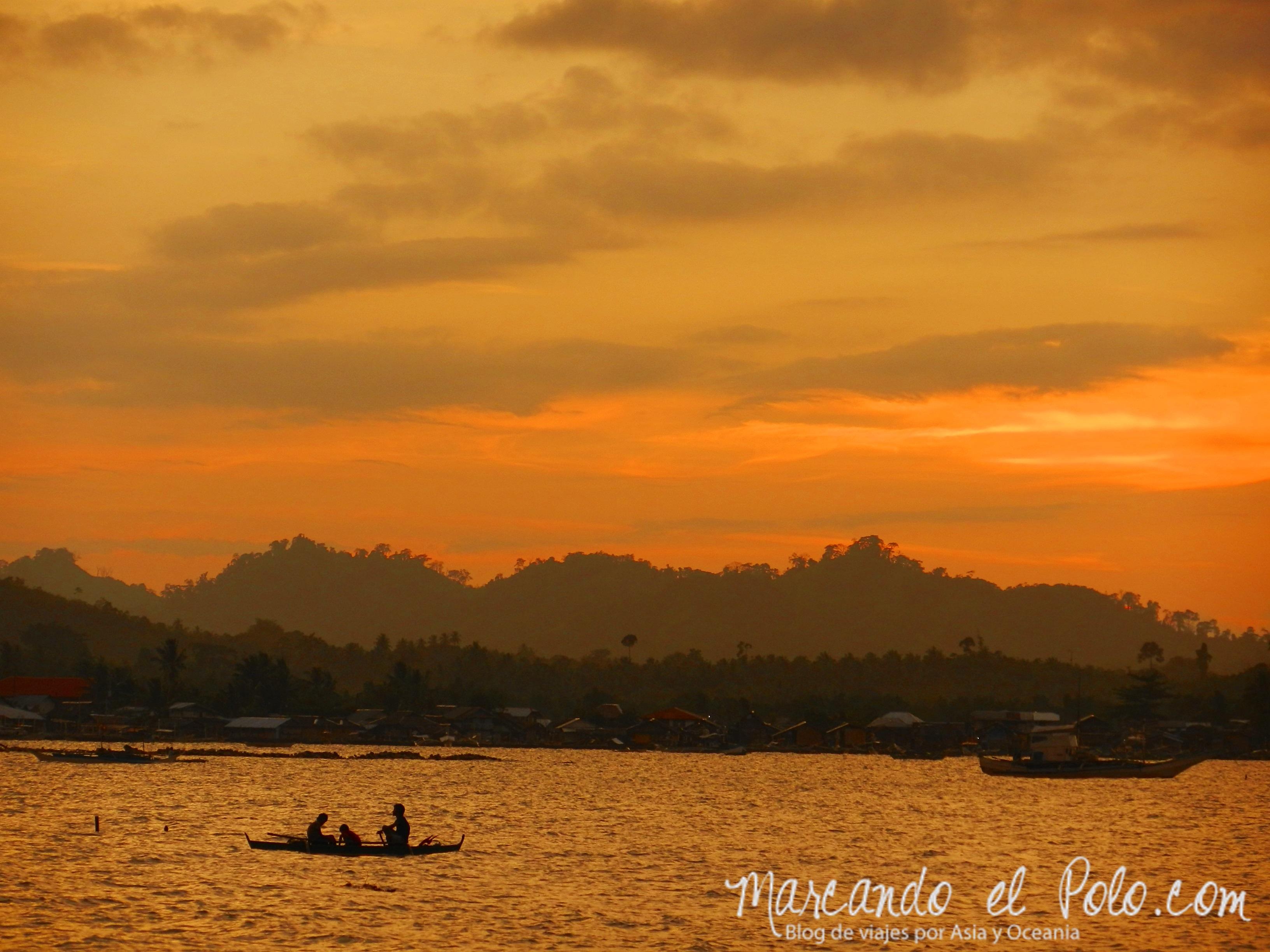 Viajar a Palawan: Atardecer en Quezón.