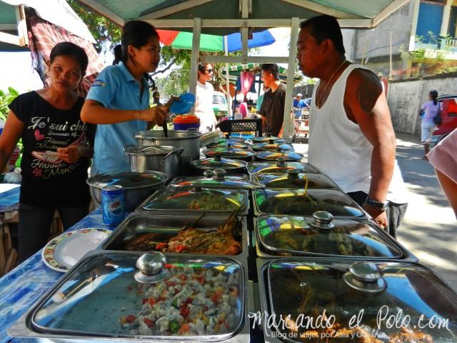 Islas Cuyo, Filipinas: Puestos de comida