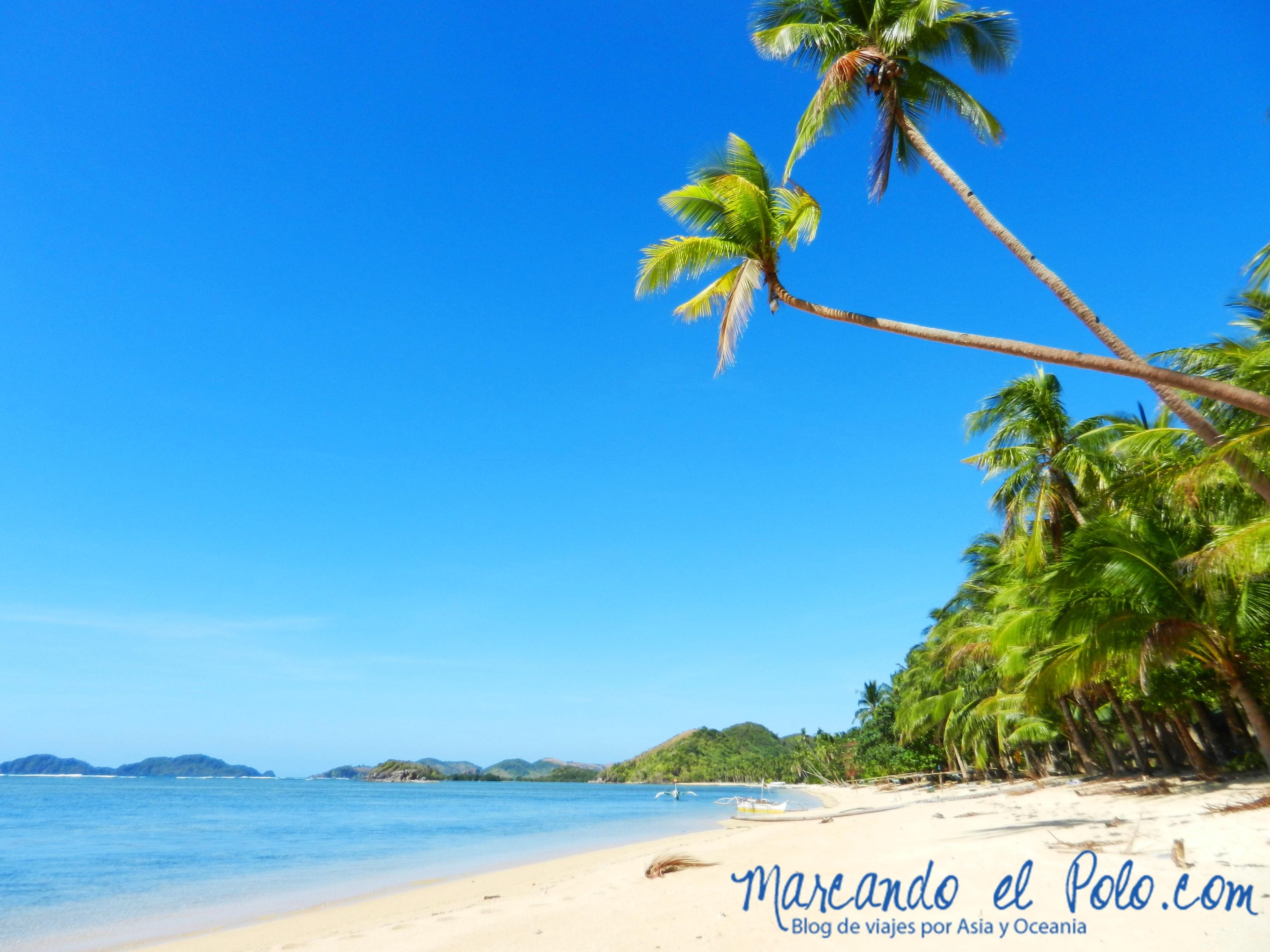 Viajar a Palawan: Playa Ocam Ocam.