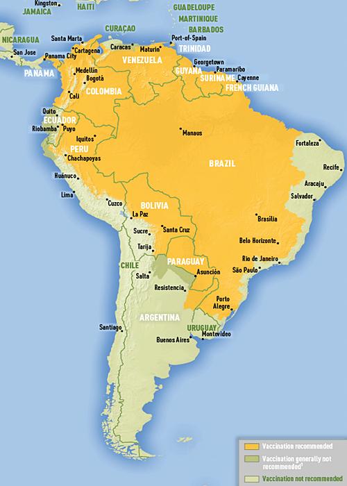 Viajar al Sudeste asiatico - vacuna fiebre amarilla