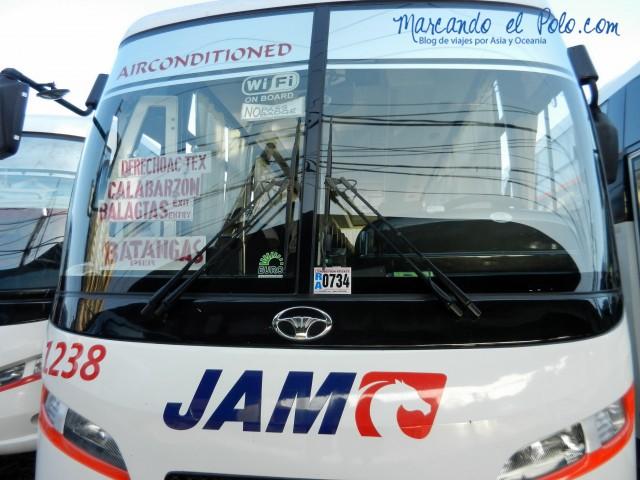 Presupuesto para viajar a Filipinas: bus