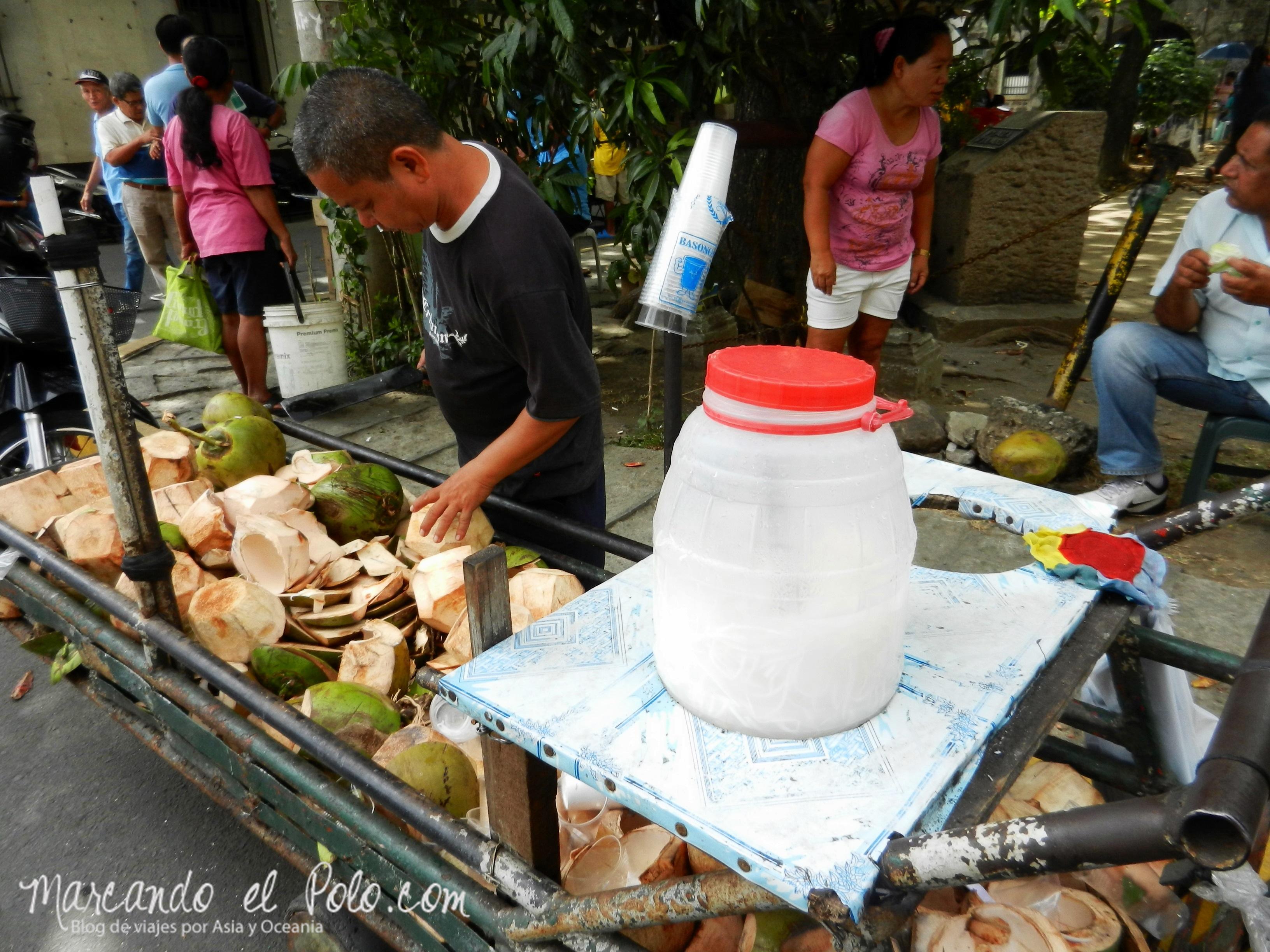 Comida de Filipinas: buko juice