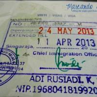 Así va a lucir la extensión de la visa en tu pasaporte...