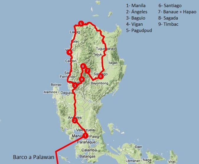 Viajar a Filipinas: itinerario Luzón