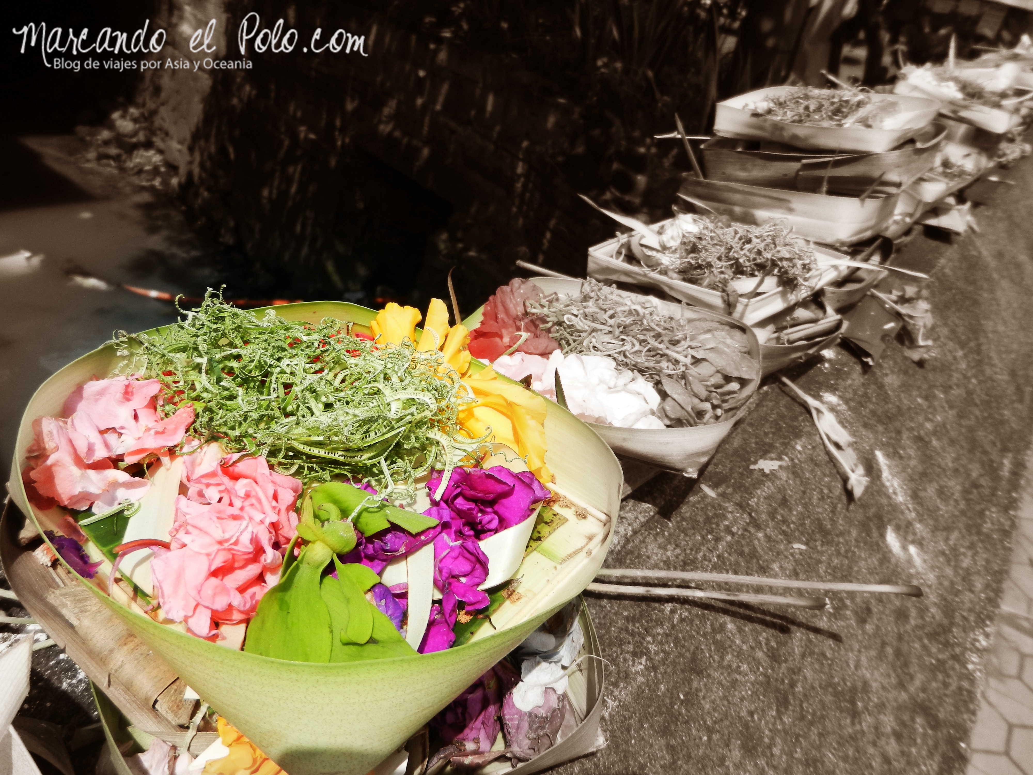 Bali, Indonesia: ofrendas