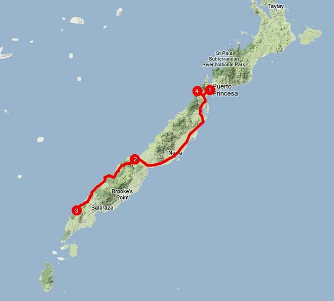 Que ver en Palawan - Itinerario sur