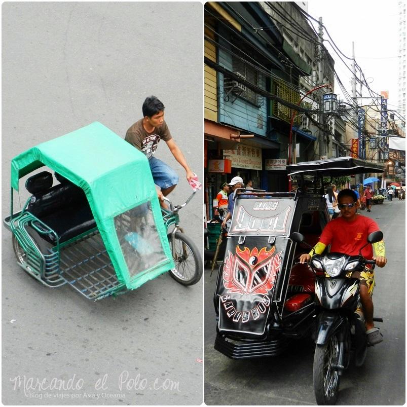 Presupuesto para viajar a Filipinas: Peddycab y trycicle