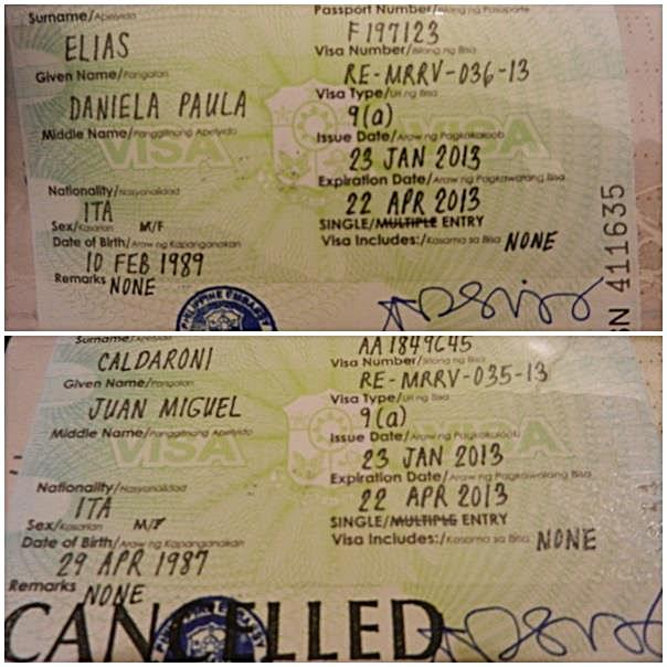 Presupuesto para viajar a Filipinas: visa