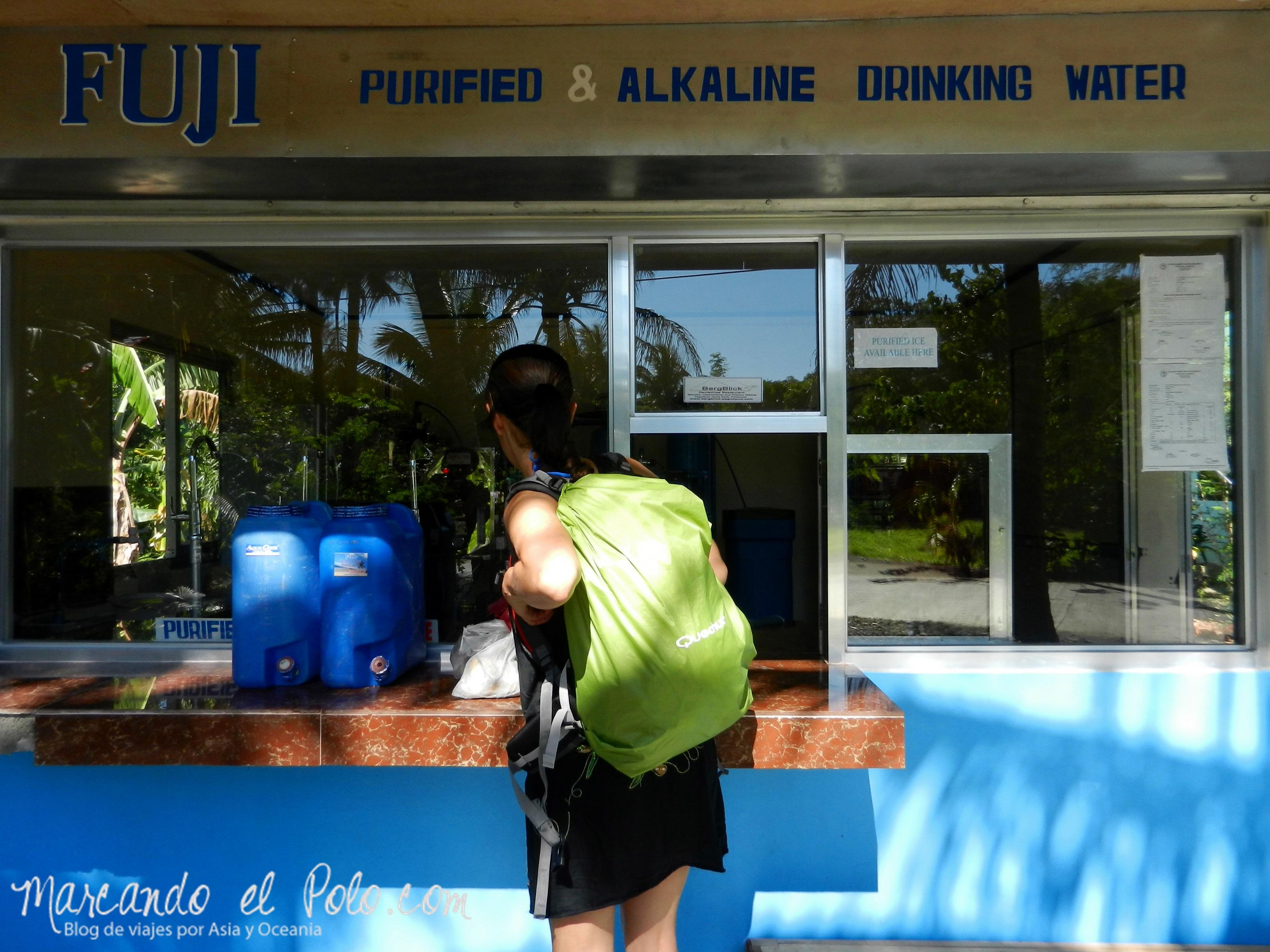 Presupuesto para viajar a Filipinas: agua
