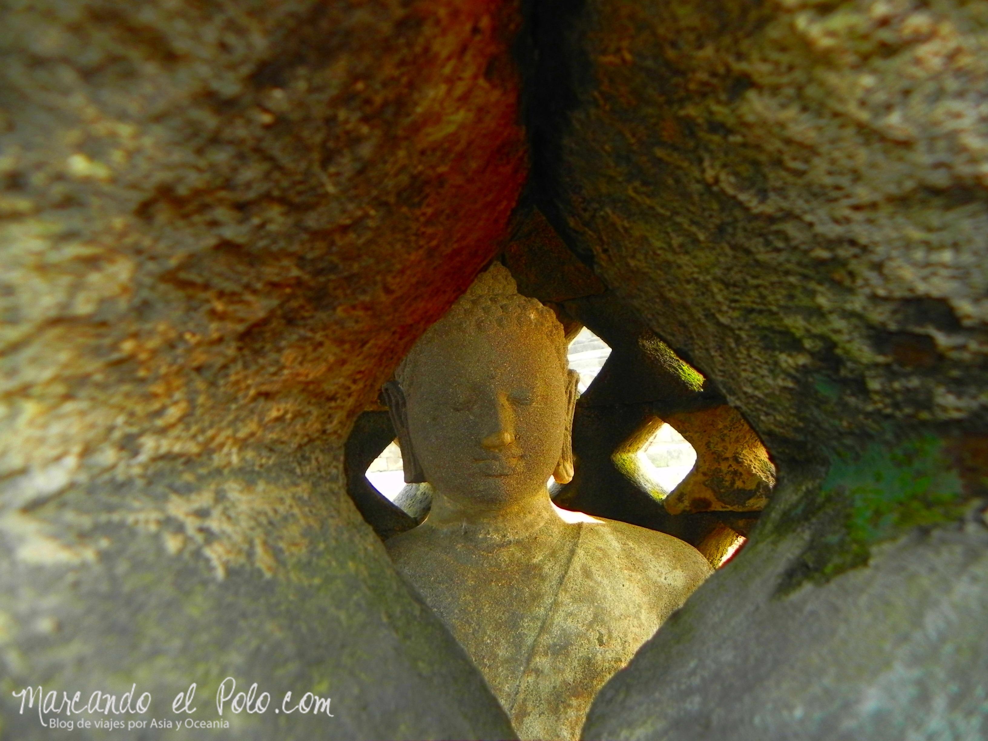 Buda en Borobudur, Indonesia