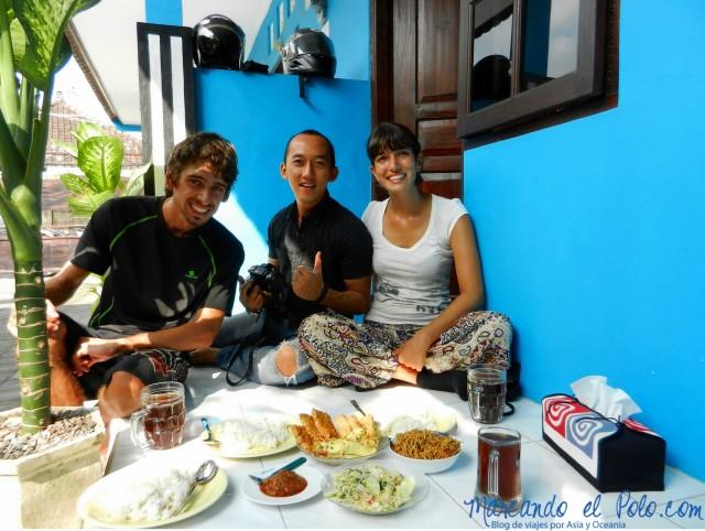 Couchsurfing en Bali.