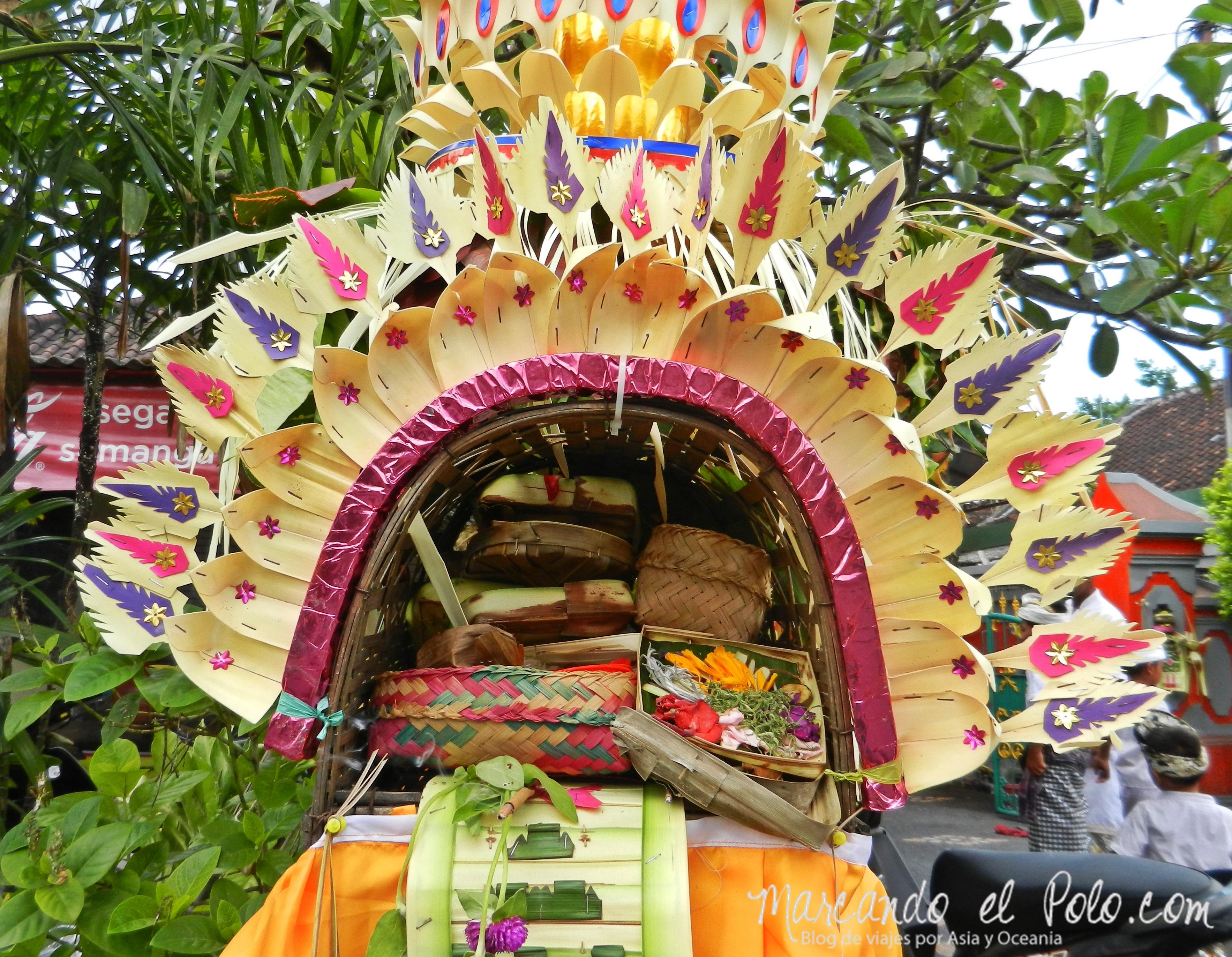 Que ver en Bali - Galungan en Danpasar